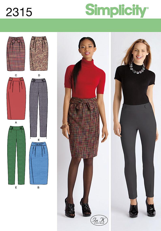 Simplicity Misses' & Miss Petite Skirts & Pants 2315