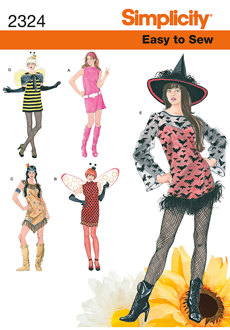 Simplicity Misses' Easy to Sew Costumes 2324