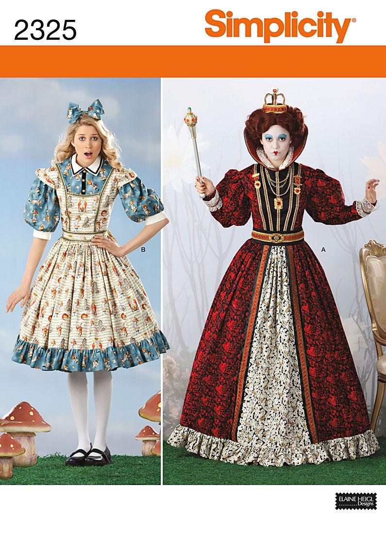 Simplicity Misses' Alice in Wonderland Costumes 2325
