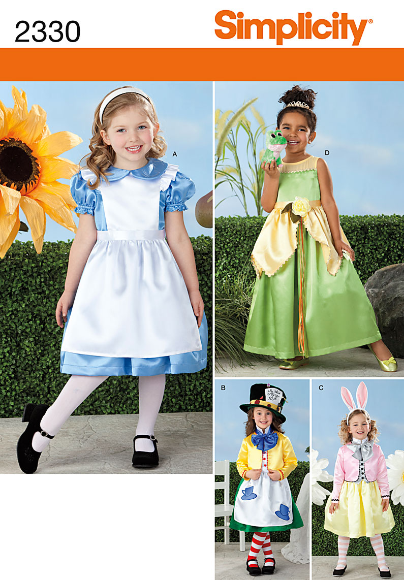 Simplicity Child's Alice in Wonderland Costumes 2330