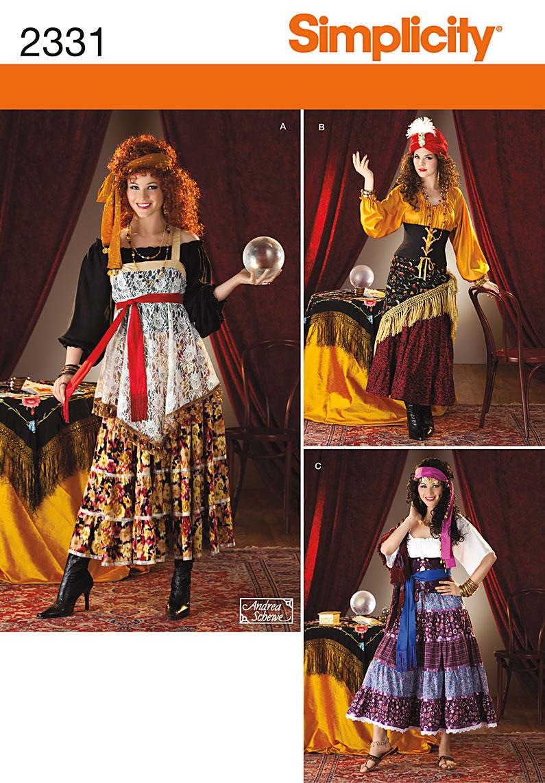 Simplicity Misses' Costumes 2331