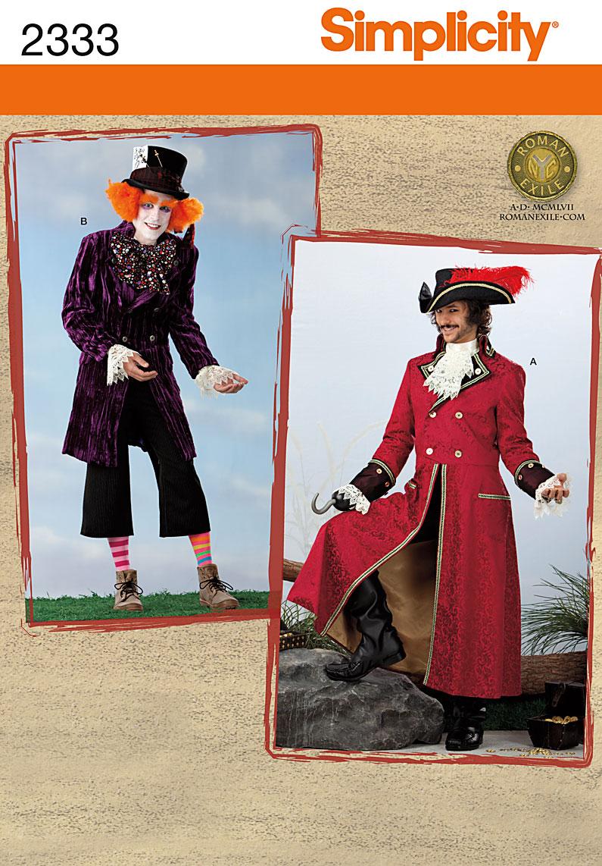 Simplicity Men's Costumes 2333
