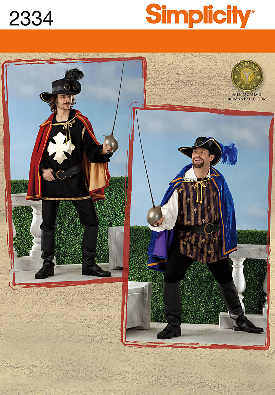 Simplicity Men's Costumes 2334
