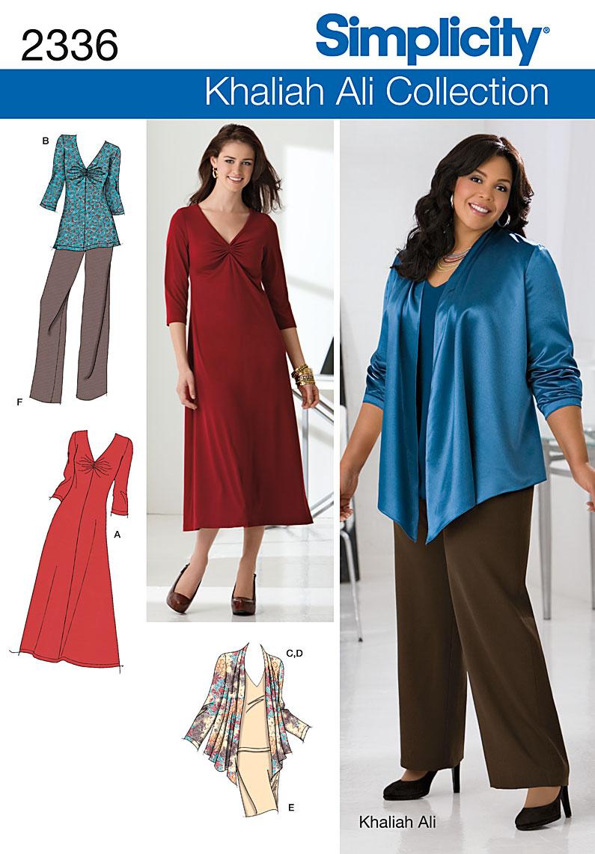 Simplicity Misses' & Plus Size Sportswear 2336
