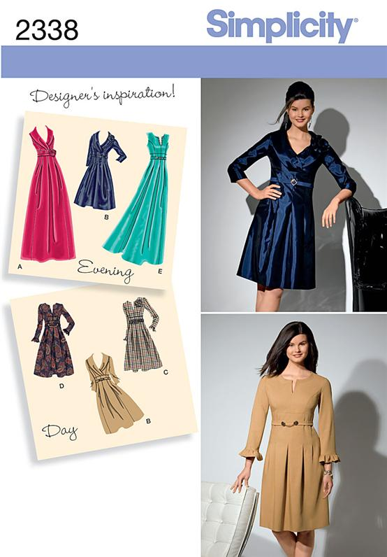 Simplicity Misses' & Plus Size Day to Evening Dresses 2338