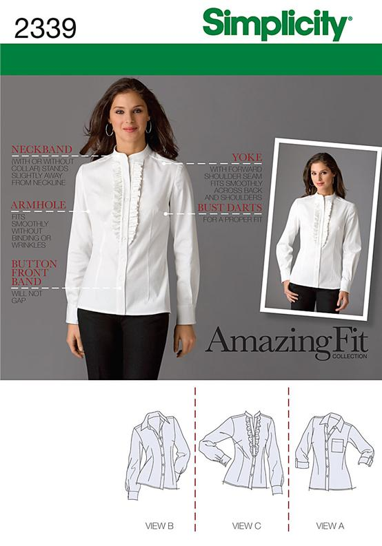 Simplicity Misses' & Miss Petite Shirts 2339