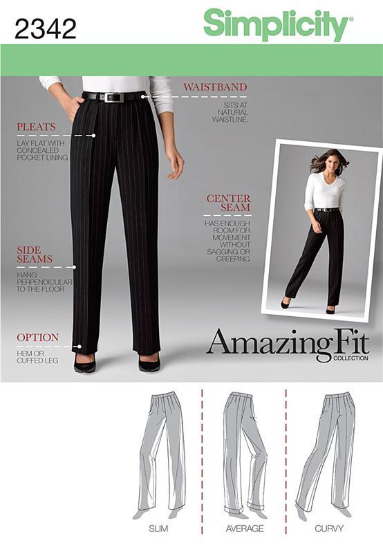 Simplicity Misses' & Miss Petite Pants 2342