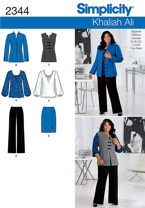 Simplicity Misses' & Plus Size Sportswear 2344