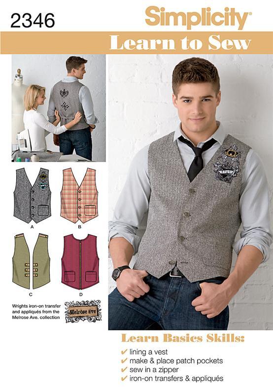 Simplicity Men's Vests 2346