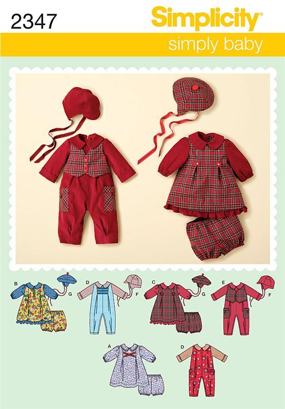 Simplicity Babies' Romper & Dresses 2347