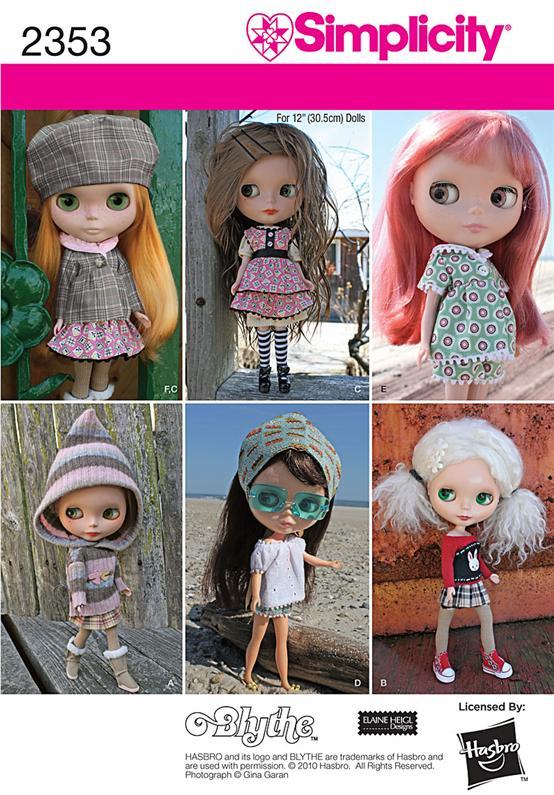 Simplicity Blythe Doll Clothes 2353