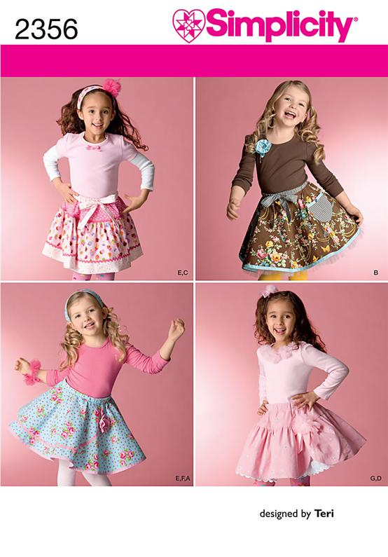Simplicity Child's Skirts, Slips & Accessories 2356
