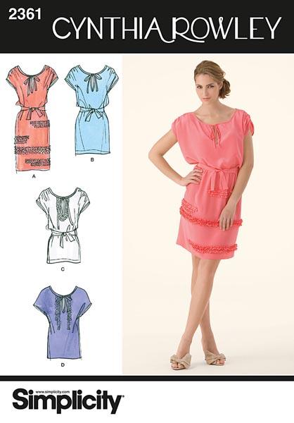 Simplicity Misses' Dresses 2361