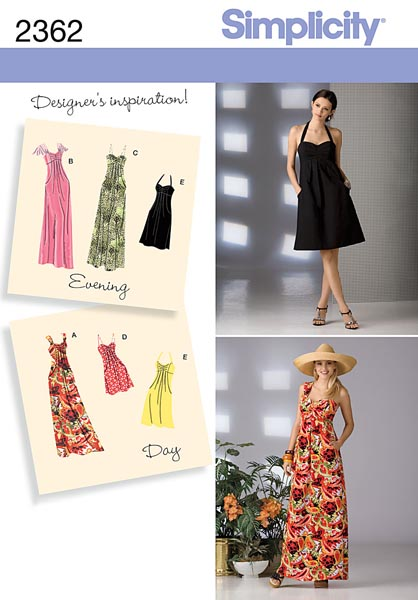 Simplicity Misses' Day to Evening Dresses 2362