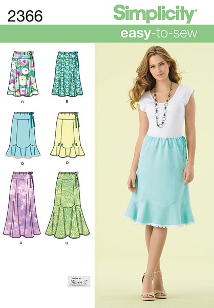 Simplicity Misses' Skirts 2366