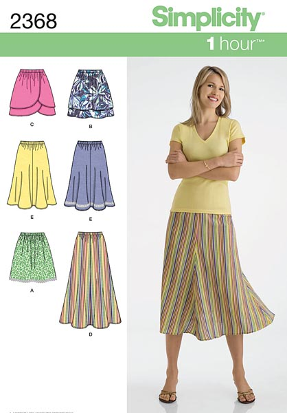 simplicity 2368 plus size 3 length skirt sewing