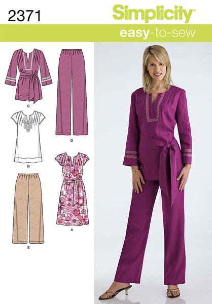 Simplicity Misses' & Plus Size Sportswear 2371