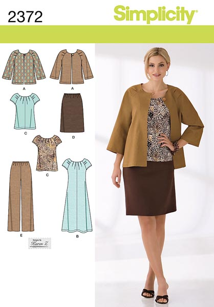 Simplicity Misses' & Plus Size Sportswear 2372