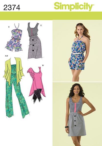 Simplicity Misses' Sportswear 2374