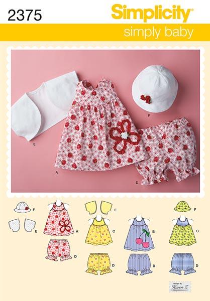 Simplicity Babies' Dress & Separates 2375
