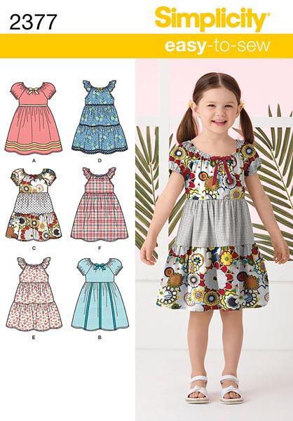 Simplicity Child's Dresses 2377