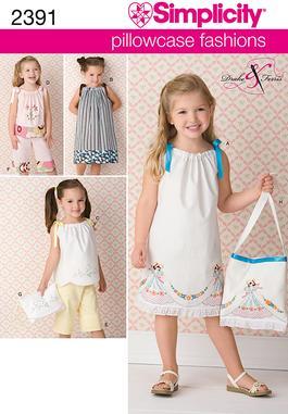 Simplicity Child's Vintage Pillow Case Fashion 2391