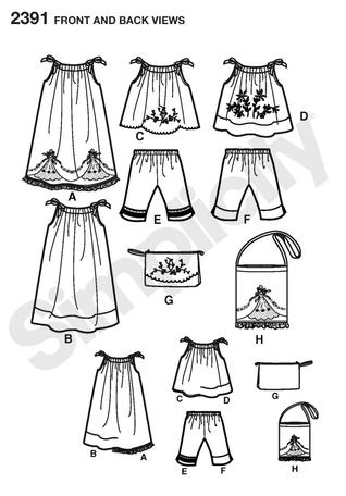 Free Dress Sewing Patterns on Simplicity 2391   Child S Vintage Pillow Case Fashion