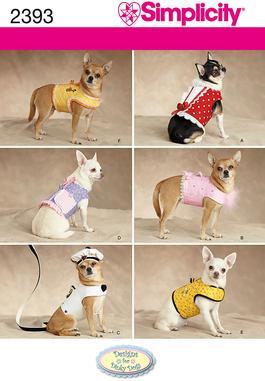 Simplicity Dog Clothes 2393