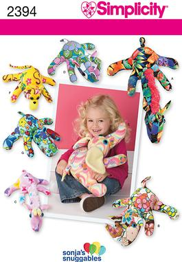 Simplicity Fleece Animal Crafts 2394