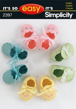 Simplicity It's So Easy Baby Booties 2397