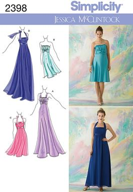 Simplicity Misses Special Occasion Dresses 2398