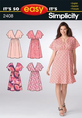 Simplicity Misses Dresses 2408