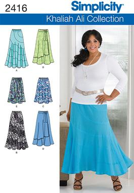 Simplicity Misses / Plus Size Skirts 2416