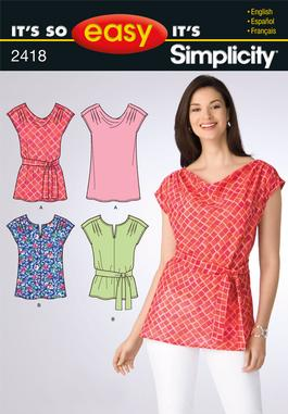 Simplicity Misses Tops 2418