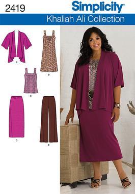 Simplicity Misses / Plus Size Sportswear 2419