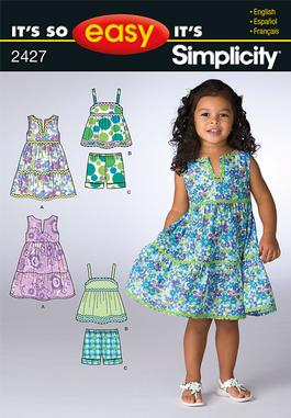 Simplicity Toddler Dress and Sportswear 2427