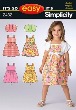 Simplicity Child's Dresses 2432