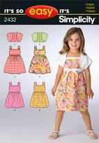 Simplicity 2432 Pattern( Size 3-4-5-6-7-8 )