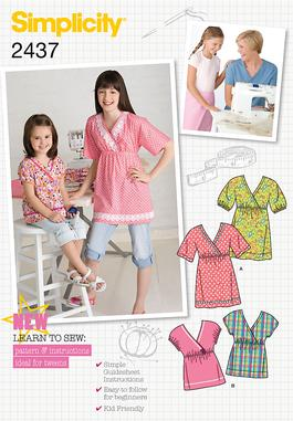 Simplicity Child's & Girl's Sportswear 2437