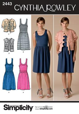 Simplicity Misses' Dresses 2443