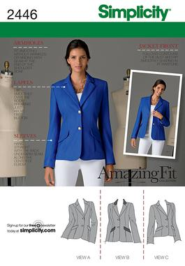Simplicity 2446 Misses' Jackets