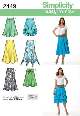Simplicity Misses' Skirts 2449