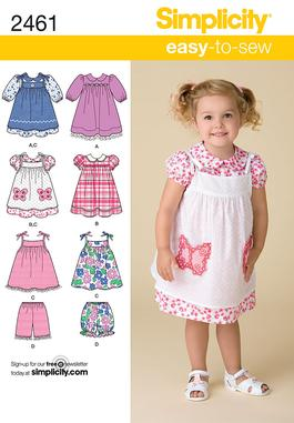 Simplicity Toddler's Dresses 2461