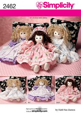 Simplicity Doll Clothes 2462