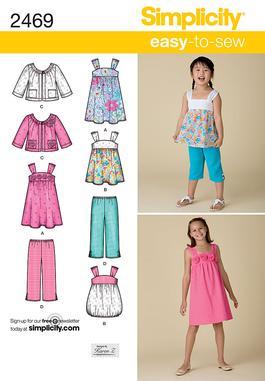 Simplicity Child's & Girls' Sportswear 2469