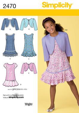 Simplicity Girls & Girls Plus Dresses 2470