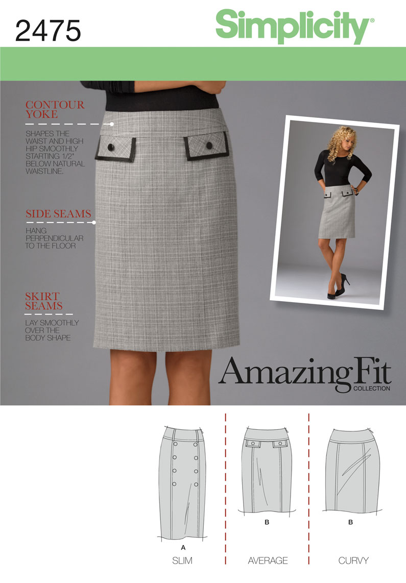 Simplicity �Misses/Miss Petite Skirts 2475