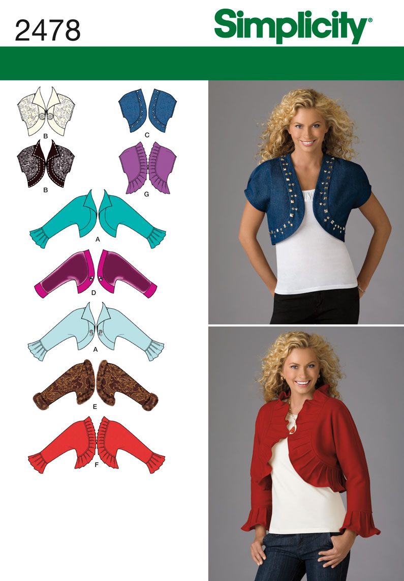 Simplicity Misses Jackets 2478