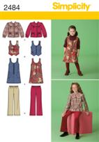Simplicity 2484 Pattern ( Size 3-4-5-6 )
