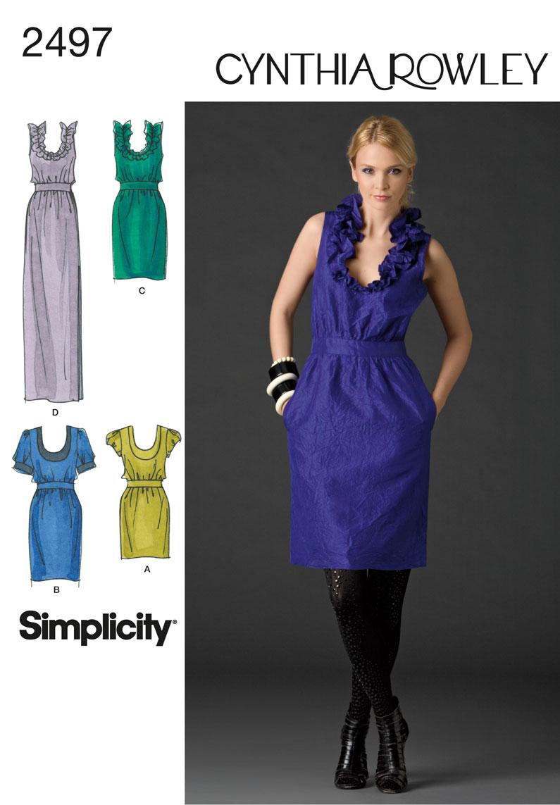 Simplicity Misses Dresses 2497